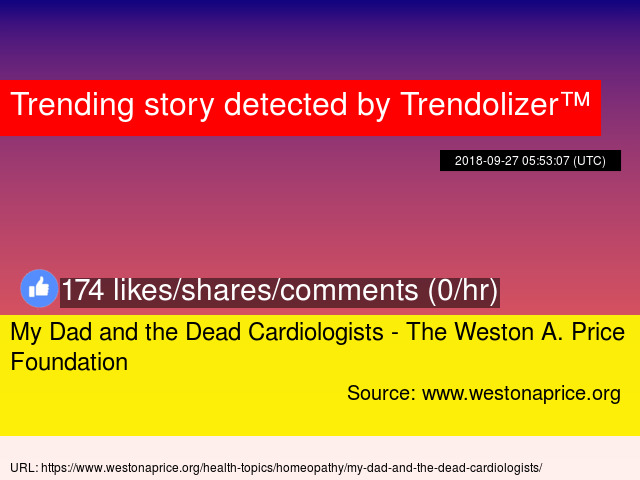 My Dad and the Dead Cardiologists - The Weston A  Price