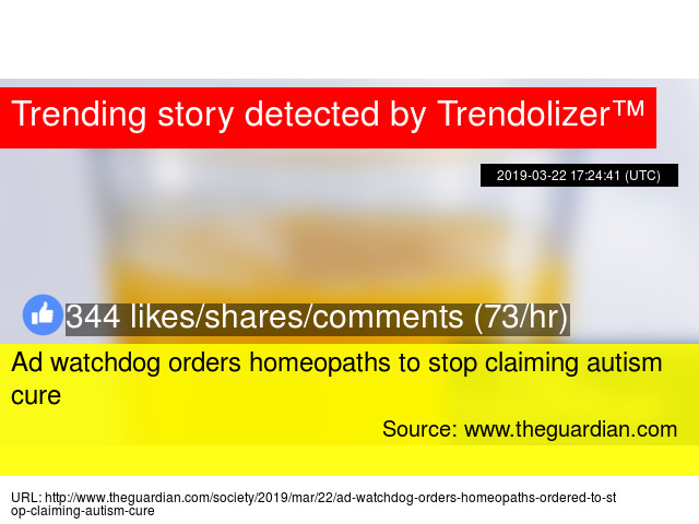 Ad watchdog orders homeopaths to stop claiming autism cure