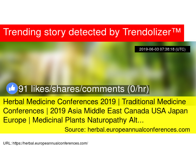 Herbal Medicine Conferences 2019 | Traditional Medicine Conferences
