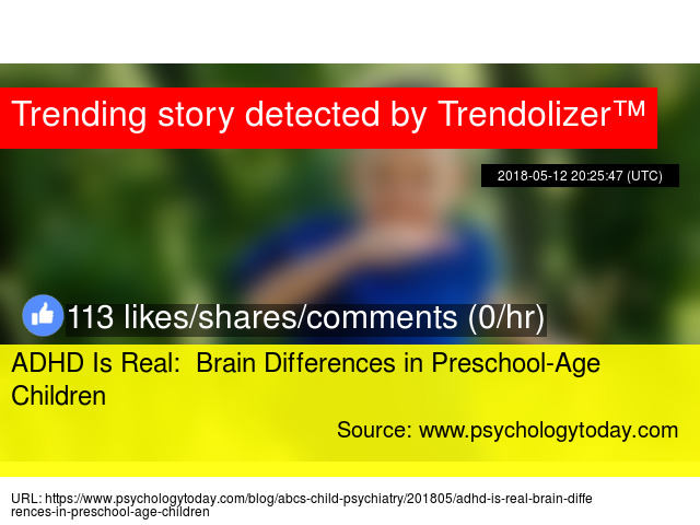 Brain Differences In Adhd >> Adhd Is Real Brain Differences In Preschool Age Children